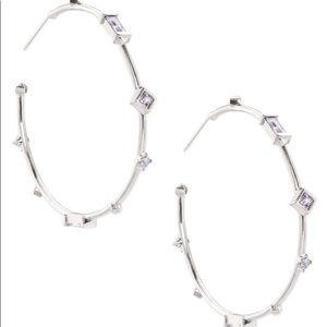 Kendra Scott silver Rhoan hoop earrings